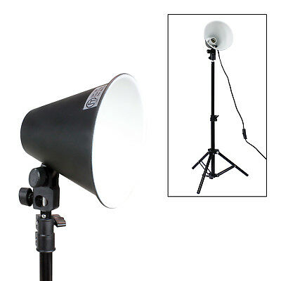 "28"" Table Top Photography Continuous Lighting Stand w/ 6.5"" Diameter Light Head"