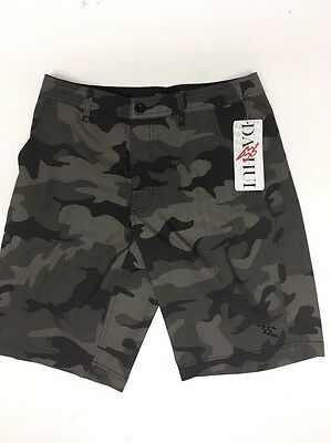 4d766c1e76 NWT Da Hui Hybrid Collection Men's Olive Camo for Surf & Turf Board Shorts  Sz 30