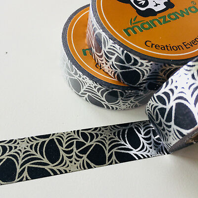 Washi Tape Silver Foil Web Halloween 15Mm X 10Mtr Scrap Plan Craft Wrap