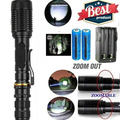 Super Bright Tactical Waterproof Handheld LED Flashlight Police Torch Light Lamp