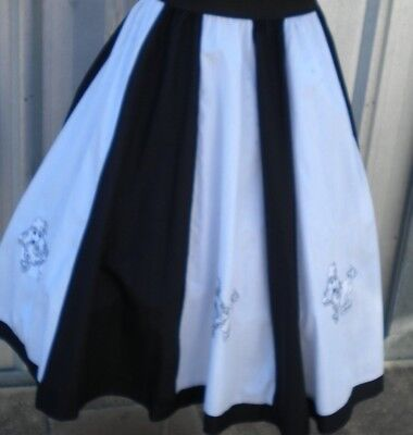 Black And White  Poodle Rock N Roll /rockabilly Skirt