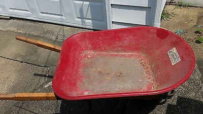 Vintage 48×22 inch Antique Radio Flyer Metal Wheelbarrow As Is Garage Cleanout