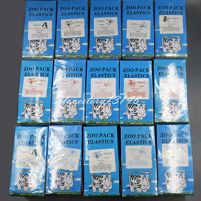 100/500/5000 Pcs Dental Orthodontic Rubber Bands Elastic Latex Braces 15 Sizes