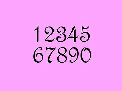 STENCIL 2 Inch French Numbers Set