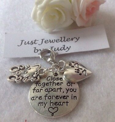 Memorial Charm For A Beloved Cat Close Together Or Apart You Are Forever In My H