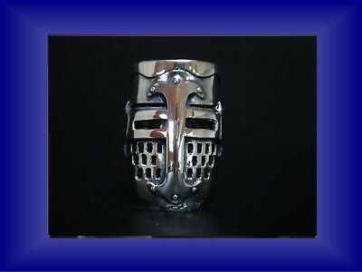 Medieval crusade Armor helm ring Sterling Silver 925 Rare Jewelry Men's Ladie's
