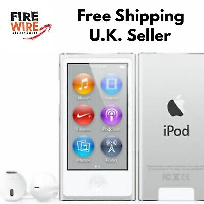 Apple iPod Nano 7th Generation Silver  A1446 (16GB) With Genuine Cable Bundle