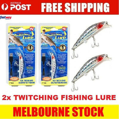 2x Twitching Fishing Lure - As Seen On TV  - Original Product FREE DELIVERY