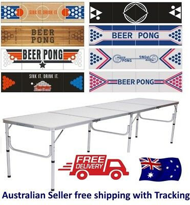 Beer Pong Table Folding Aluminum  Party Drinking Game Folding Camping table