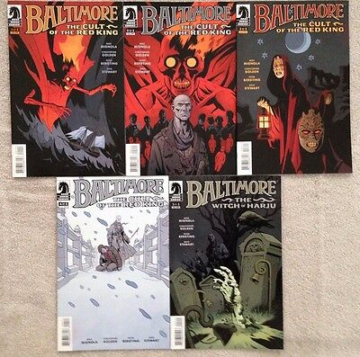 BALTIMORE -5 Issue Lot- CULT OF THE RED KING #1, #2, #3, #4 & WITCH OF HARJU #2
