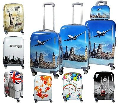 Reisekoffer Hartschale QTC WORLD 100% PC Trolley Case Trolly Beautycase M L XL S