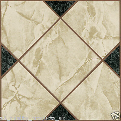60 x Vinyl Floor Tiles - Self Adhesive - Bathroom Kitchen - Victorian Marble 193