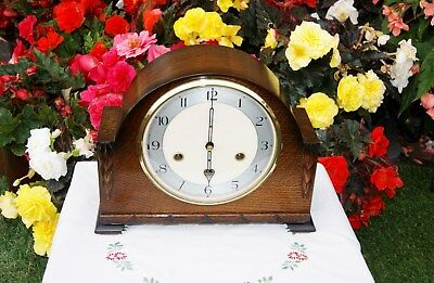 Smiths Antique Art Deco Westminster Chime Mantel Clock, 1953. Stunning And Rare!