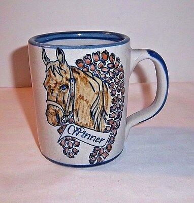 Horse Champion Mug Rose Wreath Race Winner Louisville Stoneware Racing Pottery