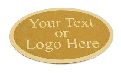 """Custom Laserfrost Gold 1-3/4"""" X 2-1/2 Oval Personalized Name Plate"""