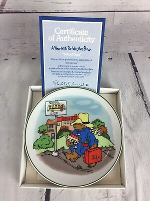 A Year with Paddington Bear Annual 1981 Collector Plate - Fall