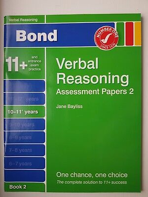 11+ Bond Verbal Reasoning Assessment Papers - 10 – 11+ years – Book 2
