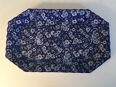 "Huge Calico 16.75"" X 10.25"" Platter Excellent Condition Unmarked"