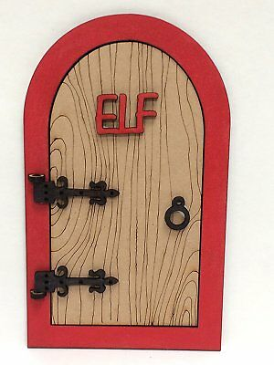 Large 3D Opening Elf Door for wall mounting above skirting board or on the shelf
