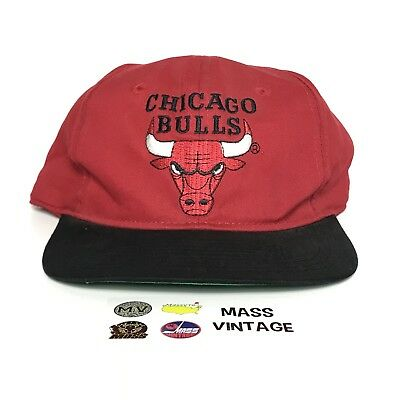 51928287cd9697 VINTAGE Chicago Bulls Hat Snapback Cap 90s NBA Basketball NEW TAG Jordan