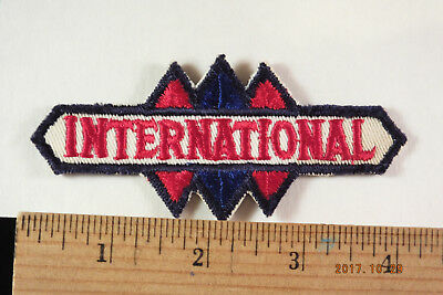 """Vintage International Trucks  Service Embroidered Patch 4 """" X 2""""  Sew-on"""