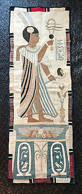 RARE Hanging ANTIQUE applique quilt EGYPTIAN Khayamyah tapestry panel 1920 #2