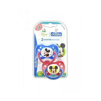 Dodie Disney Baby 2 Sucettes Silicone +6 Mois Mickey