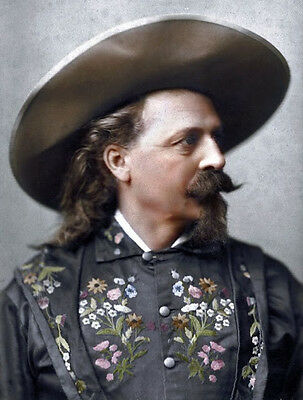 Portrait of Buffalo Bill, American Civil War soldier and western showman. 1889