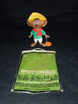 "Dakin 1968 Warner Bros Looney Tunes Speedy Gonzales 7"" Figure w/Bag & Tag RARE"