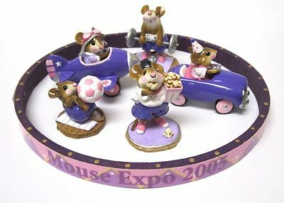 Wee Forest Folk Mouse Expo 2005 Event Ltd. Ed. Under The Big Top 5 Purple Piece