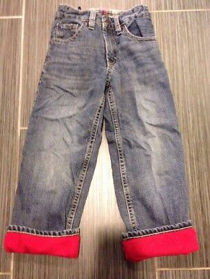 Baby Gap Toddler Red Fleece Lined Jeans, 4