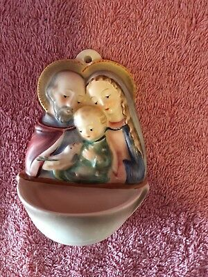 "Goebel Hummel Holy Water Font ""holy Family'  Lot 17-121"