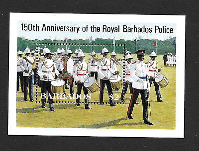 Barbados 674 VF MNH Souvenir Sheet Royal Police