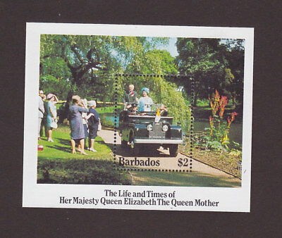 Barbados 664 VF MNH Queen Mother Souvenir Sheet