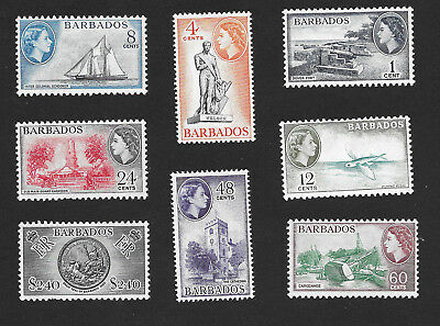 Barbados 257 - 264 VF MH Set of 8 Stamps