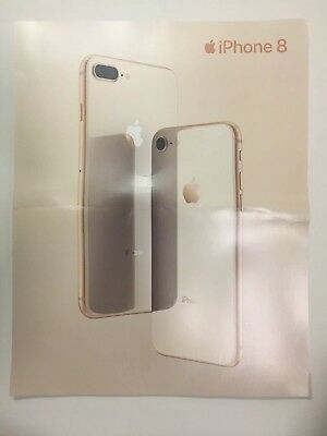 APPLE IPHONE 8 Double SIDED Promo Advertisement Poster (read descrip.)
