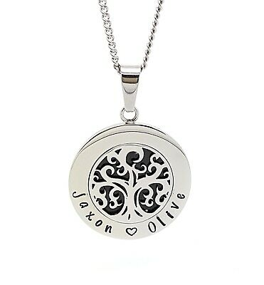 Tree of Life Silver Pendant, Personalised Children's names, Family Necklace