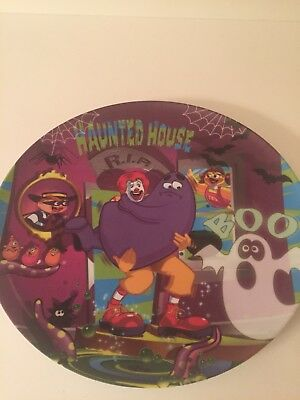 McDonalds Collectible Plate Halloween Haunted House Boo Ghost Purple Spider 2004