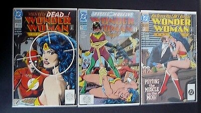 Wonder Woman Lot (C) Of 3 Vol 2 Bolland Covers, 73,74,76, High Grade Dc Comics