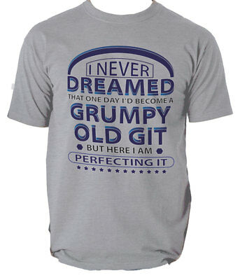 Perfecting Grumpy Old Git Funny T Shirt MENS Christmas Gift for Him Dad Grandad