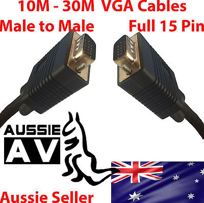 VGA SVGA cable male to male for PC Monitor LCD Laptop smart TV 10M-30M VGA cable