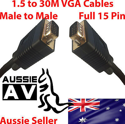 VGA cable male to male for PC Monitor LCD Laptop smart TV 1.5M-10M VGA cable