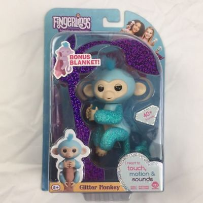 Brand New Wowwee Fingerlings Set Glitter Monkey Naima