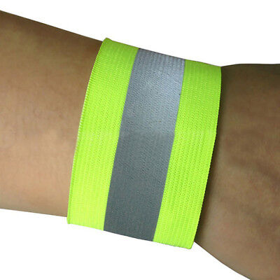 2Pcs Reflective Arm Band Belt Strap For Sports Outdoor Night Running Cycling