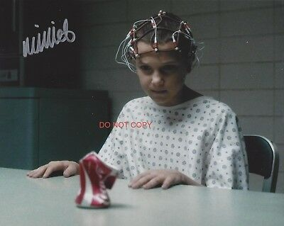 """Stranger Things Eleven Millie Bobby Brown Reprint SIGNED 8x10"""" Photo #3 Netflix"""