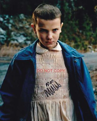 """Stranger Things Eleven Millie Bobby Brown Reprint SIGNED 8x10"""" Photo #5 Netflix"""