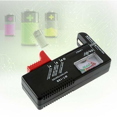 Black AA/AAA/C/D/9V/1.5V Universal Button Cell Battery Volt Tester Check BT-16+@