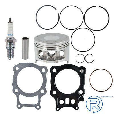 Trx350 Trx 350 Piston Rings Gasket Kit Spark Plug For Honda Rancher 2000-2006