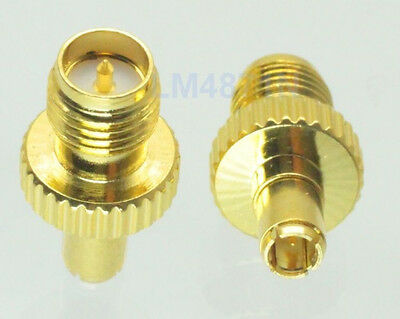 Adapter TS9 male plug to RP.SMA female RF connector straight gold plating