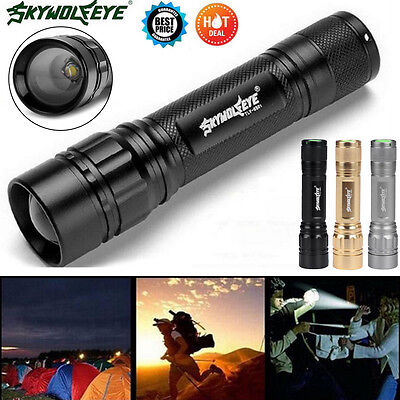 Super Bright 5000 Lumens 3 Modes CREE XML XPE LED 18650 Flashlight Torch Lamp